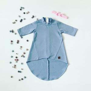 Niebieska sukienka dla dziewczynki 56-92 cm