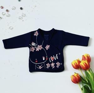 Bluzka flowers z długim rękawem dla dziewczynki 56-92 cm