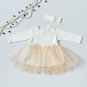 Sukienka Gloria + opaska dla dziewczynki 56-92 cm