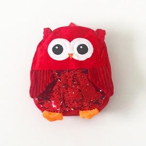 Plecak sowa - czerwony