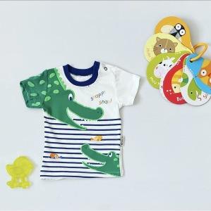 T-shirt krokodyl dla chłopczyka 56-92 cm