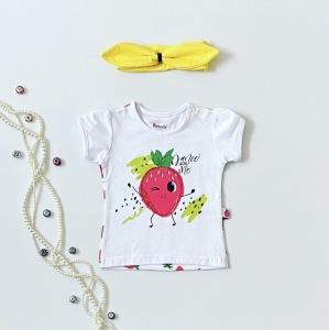 T-shirt truskawka dla dziewczynki 56-92 cm