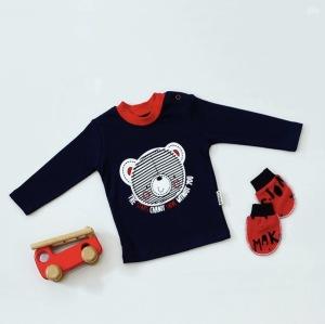 Bluzeczka z długim rękawem - teddy