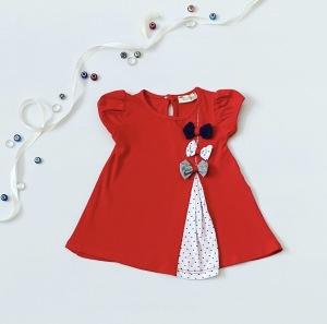 Sukienka kokardki dla dziewczynki 56-92 cm