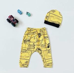 Spodnie hey + czapka dla chłopczyka 56-92 cm