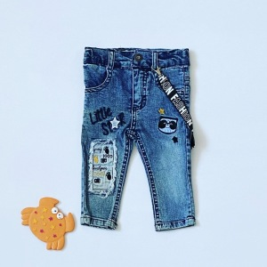 Jeansy number dla chłopczyka 56-92 cm