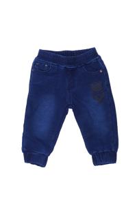 Granatowe ocieplane spodnie