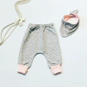 Spodnie kropeczka + apaszka