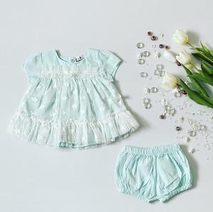 Komplet light blue dla dziewczynki 56-92 cm