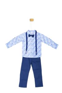 Komplet - niebieska koszula z szelkami