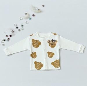 Bluzka misia z długim rękawem dla dziewczynki 56-92 cm