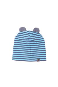 Niebiesko szara czapka z uszami