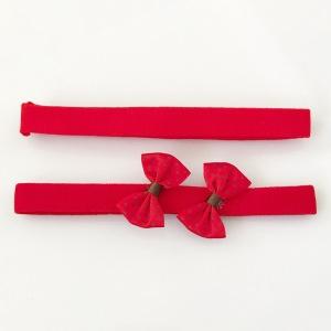 Czerwone opaski z kokardką - dwupak
