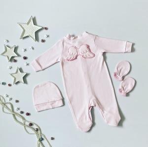 Pajac pink angel dla dziewczynki 56-92 cm