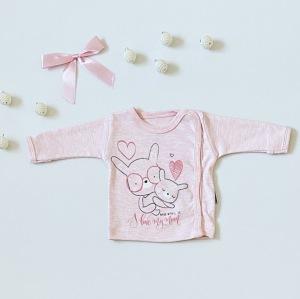 Bluzka love pink z długim rękawem dla dziewczynki 56-92 cm