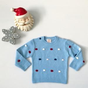 Błękitny sweterek dla dziewczynki 56-92 cm