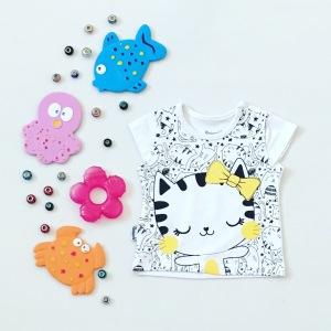 T-shirt kotek dla dziewczynki 56-92 cm