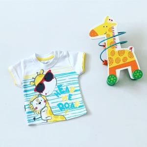 T-shirt żyrafa dla chłopczyka 56-92 cm