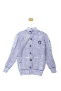 Sweterek szaro-błękitny