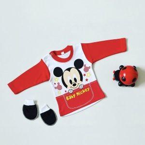 Bluzeczka z długim rękawem - baby mickey