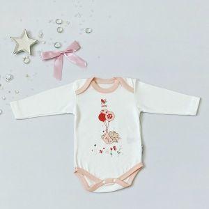 Body baby z długim rękawem dla dziewczynki 56-92 cm
