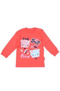 Bluzeczka kotki z długim rękawem dla dziewczynki 56-92 cm