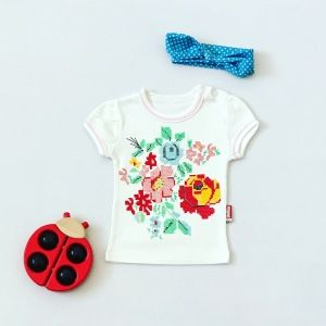 T-shirt flower dla dziewczynki 56-92 cm