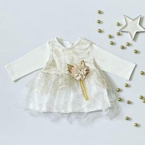 Sukienka gold dla dziewczynki 56-92 cm