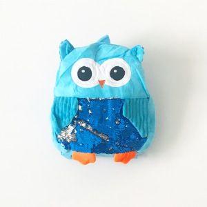 Plecak sowa - niebieski