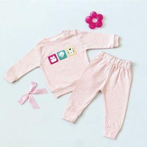 Komplet pink dla dziewczynki 56-92 cm