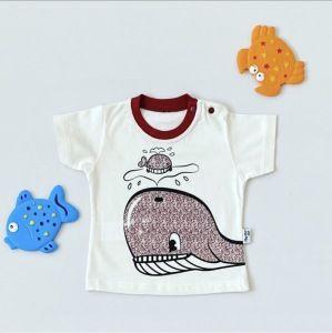 T-shirt rybka dla chłopczyka 56-92 cm