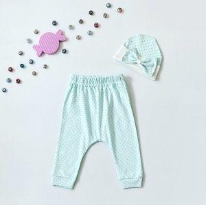 Spodnie blue + czapeczka dla dziewczynki 56-92 cm