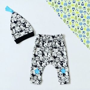 Spodnie blue star + czapka dla chłopczyka 56-92 cm