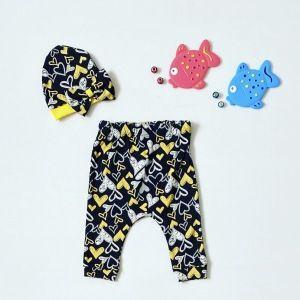 Spodnie love + czapeczka dla dziewczynki 56-92 cm