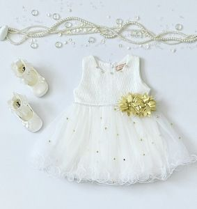 Sukienka white dla dziewczynki 56-92 cm