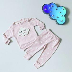 Komplet różowa chmurka dla dziewczynki 56-92 cm