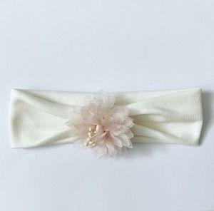 Opaska pink flower dla dziewczynki