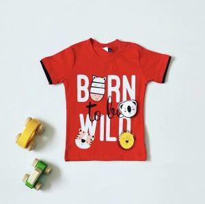 T-shirt wild red dla chłopczyka 56-92 cm