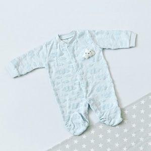 Pajac z chmurką blue dla chłopczyka 56-92 cm