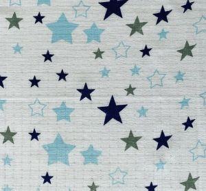 Pieluszka tetra - blue star