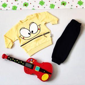 Komplet yellow smile dla chłopczyka 56-92 cm