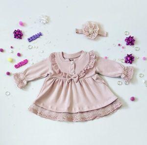 Sukienka Liza + opaska dla dziewczynki 56-92 cm