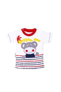 T-shirt z krótkim rękawkiem - małpka dla chłopczyka 56-92 cm