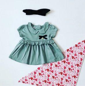 Bluzka mięta z krótkim rękawem dla dziewczynki 56-92 cm