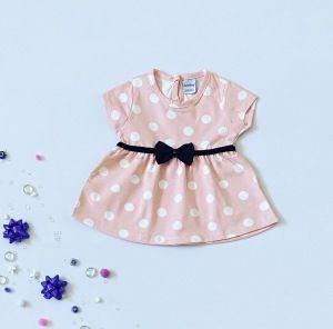 Bluzka moli pink z krótkim rękawem dla dziewczynki 56-92 cm