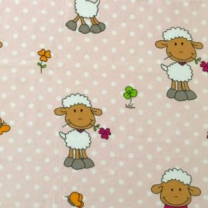 Pieluszka różowa owieczka