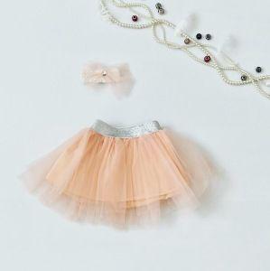 Spódniczka pink + opaska dla dziewczynki 56-92 cm