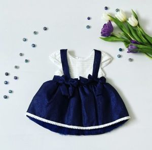 Sukienka szafir dla dziewczynki 56-92 cm