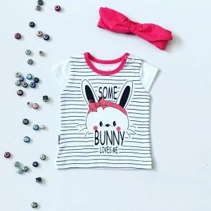 T-shirt bunny dla dziewczynki 56-92 cm