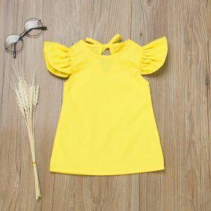Żółta sukienka dla dziewczynki 56-92 cm